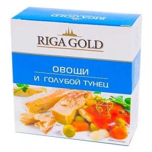 "Овощи и голубой тунец ""Рига Голд"" 250гр."