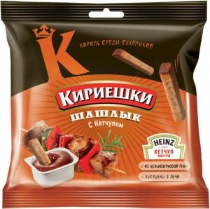 "Сухарики ""Кириешки"" шашлык с соусом кетчуп 85 гр."