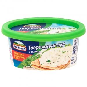 Сыр плавленый Хохланд (ванночка) творожный с зеленью 220 гр.