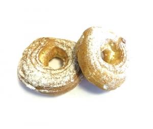 Пирожное заварное  кольцо твор.нач/сливки вес.