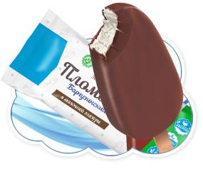 "Мороженое эскимо ""Баргузинский пломбир"" в молочной глазури 65гр (Ангария)"