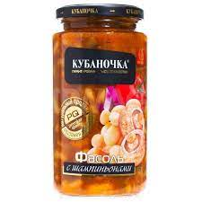 "Фасоль с шампиньонами ""Кубаночка"" ст/б 500 гр."