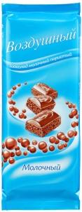 """Шоколад """"Воздушный"""" Молочный пористый 85 гр."""