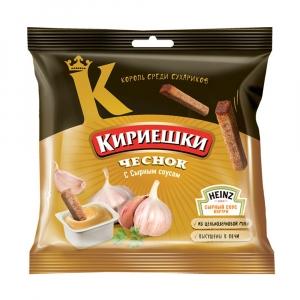 """Сухарики """"Кириешки"""" чеснок с сырным соусом 85 гр."""
