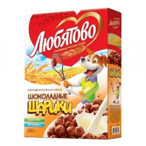 Шарики шоколадные Любятово 250 г