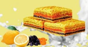"""Печенье """"Балиш трехслойный"""" (Курага, чернослив, лимон) 1 кг. вес."""