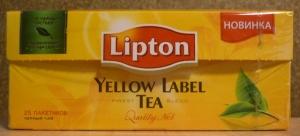 """Чай """"Lipton"""" Yellow Label чёрный в пакетиках 25 Х 2 г"""