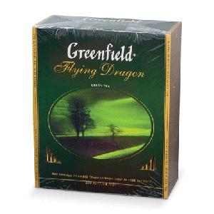 "Чай ""Greenfield"" Flying Dragon зелёный в пакетиках 100"