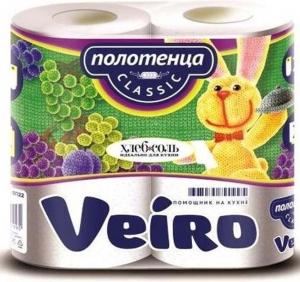 """Бумажные полотенца """"Veiro"""" белые двухслойные"""