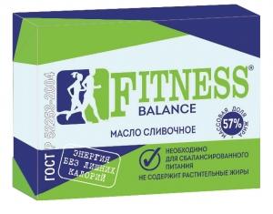 """Масло сливочное сладко-сливочное несоленое пониженной жирности """"Fitness balance"""" 170 гр."""