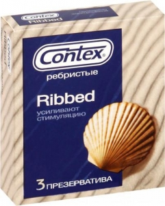 Презервативы Контекс Ребристые 3 шт
