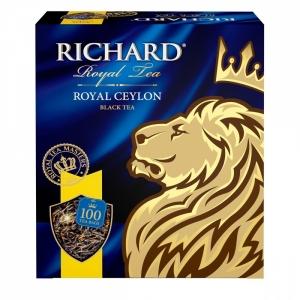 "Чай ""Richard"" роял цейлон в пакетиках 100пак."
