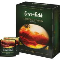 "Чай ""Greenfield""  голден цейлон чёрный в пакетиках 2*100 шт"