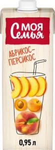 """Сок """"Моя Семья"""" абрикос-персик 0,95л."""