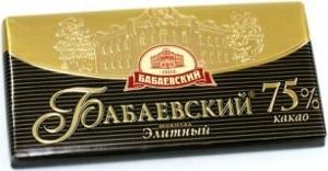 """Шоколад """"Бабаевский"""" элитный 75% 100 г"""