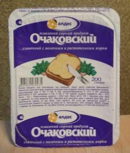 """Плавленый сырный продукт """"Очаковский"""" сливочный 180 г"""