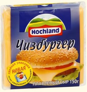 """Сыр плавленый ломтевой """"Hochland"""" Хохланд Чизбургер 150 г"""