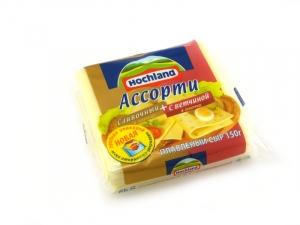 """Сыр плавленый ломтевой """"Hochland"""" Хохланд Ассорти 150 г"""