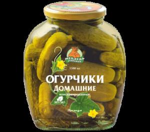 """Огурчики домашние """"Медведь Любимый"""" Премиум 1500 мл"""
