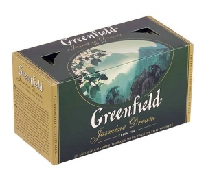 "Чай ""Greenfield"" Jasmine Dream зелёный в пакетиках 25 х 2 г"