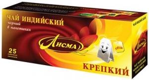 """Чай """"Лисма"""" крепкий черный 25 пак * 2,3 гр."""