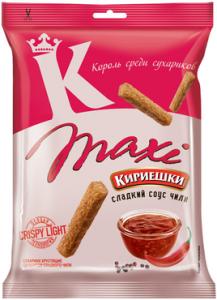 """Сухарики """"Кириешки"""" Maxi со вкусом сладкого чили 60гр"""