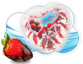 """Торт-мороженое пломбир """"Эладо"""" с клубничным джемом и шоколадной крошкой 400гр.(Ангария)"""