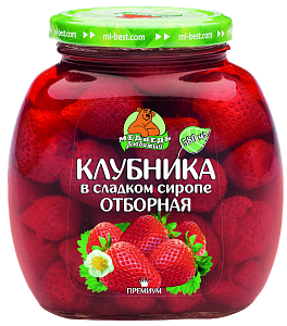 """Клубника отборная """"Медведь любимый"""" 1500 мл"""