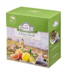 "Чай ""Ахмад"" зеленый цитрус пирамидки 25п."