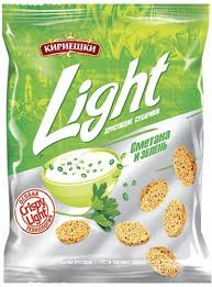 """Сухарики """"Кириешки Light"""" сметана зелень 80 гр."""